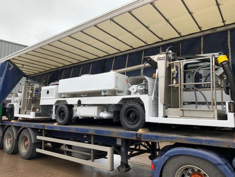 GSE - Ground Support Equipment  Portable Water Trucks & Toilets being transported by McIvor Transport  We can transport all our Ground Support Equipment Worldwide